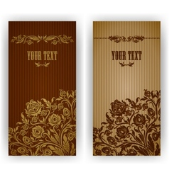 template design for invitation vector image