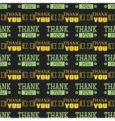 Thank you text lettering seamless pattern vector image