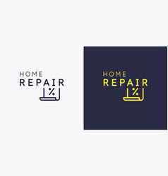 the emblem home repair sticker on shop vector image