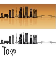 Tokyo v3 skyline vector