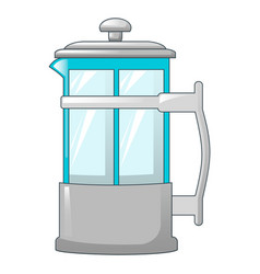 transparent tea pot icon cartoon style vector image