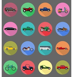 transport flat icons 59 vector image