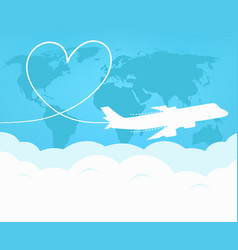 travel and tourism around the world by plane vector image