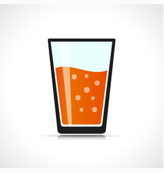 tropical beverage symbol design vector image