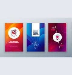 vertical banner design for social networks vector image