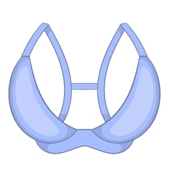 White bra icon cartoon style vector
