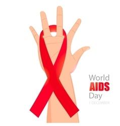 Worlds Aids day card 1 december vector