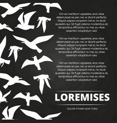 blackboard poster with white flying birds vector image vector image