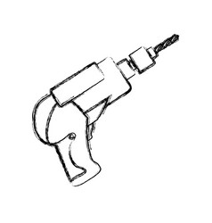 electric drill carpentry tool vector image vector image