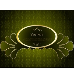 Green Label Template vector image vector image