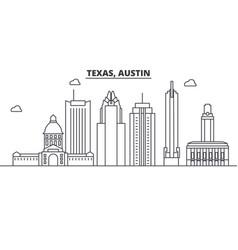 texas austin architecture line skyline vector image vector image
