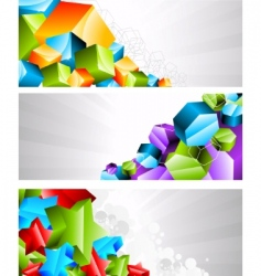3D banners vector image