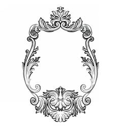 Baroque Rococo Mirror frame decor vector image vector image