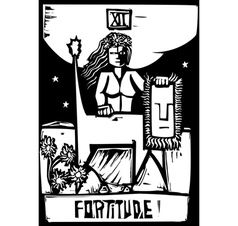 Tarot Card Fortitude vector image vector image