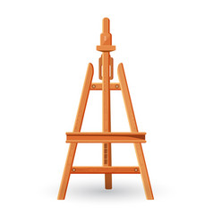 wooden easel upright support used for displaying vector image