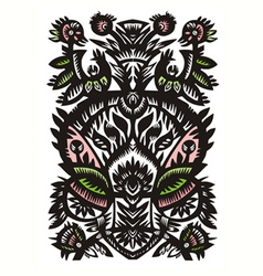 decorative floral pattern on a white background vector image