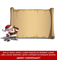 Happy Santa Scroll It Is Christmas Time vector image vector image