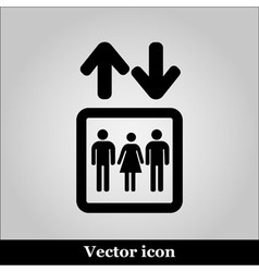 Lift or elevator symbol on grey background vector image vector image