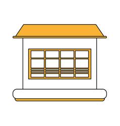 window shop sun umbrella vector image vector image