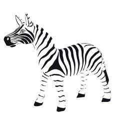 zebra in striped black and white vector image