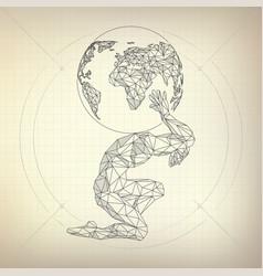 Atlas man vector
