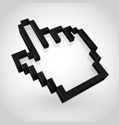 black hand arrow cursor vector image