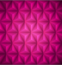 Pink Geometric abstract low-poly paper background vector image vector image