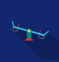 seesaw icon in flat style isolated on white vector image vector image