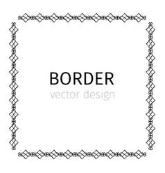 square black scythian border vector image
