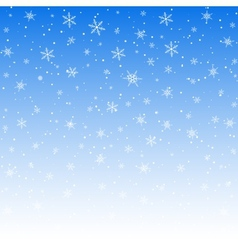 white snowflakes pattern vector image