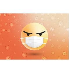 3d modern emoji with medical face surgical mask vector