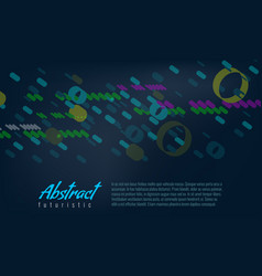 abstract background with line and fill 3d circles vector image