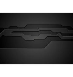 Abstract black technology corporate design vector