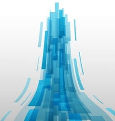 Abstract blue elements technology background vector