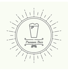 Beer brewery emblems vector