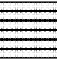 Black and white abstract geometric pattern vector image