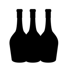 Black contour wine bottles taste beverage vector
