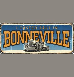 bonneville speed race utah us vector image