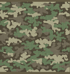 camouflage texture seamless pattern vector image