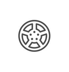 car rims line icon vector image