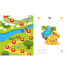 cartoon game level design composition vector image