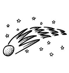 Cartoon image of comet vector
