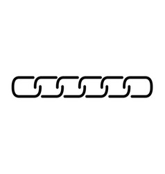 chain link line in flat style black isolated on vector image