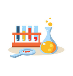 chemistry education design vector image