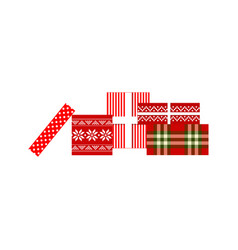 christmas gifts xmas vector image