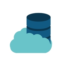 cloud data server technology vector image