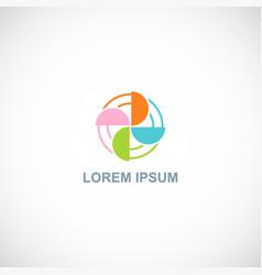 color circle fan spin logo vector image