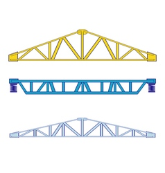 color icon set with steel structures vector image