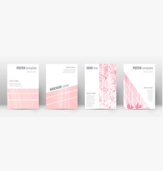 cover page design template geometric brochure lay vector image