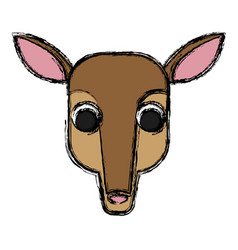 deer animal cartoon vector image